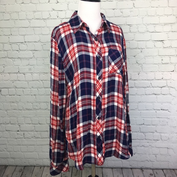 Tops - SOFT oversized Plaid Shirt